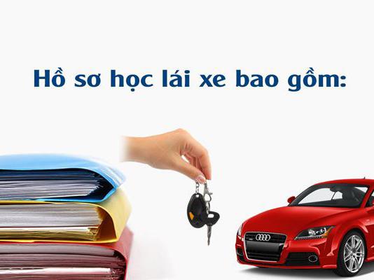 hồ sơ đăng ký học lái xe ô tô